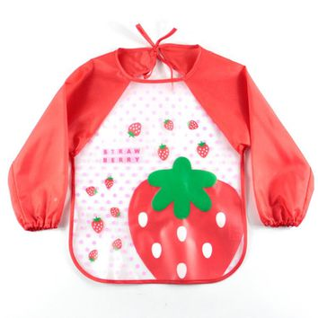 12Styles Baby Bibs Waterproof Baby Infant Cute Cartoon Apron Long Sleeve Clothing Accessories Bebes Babador Baby Feeding baberos