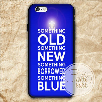 Tardis Quotes iPhone 4/4S, 5/5S, 5C Series Hard Plastic Case