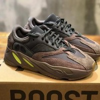 ADIDAS YEEZY BOOST 700 Tide brand thick-bottomed muffin casual men and women retro old shoes sneakers 2#