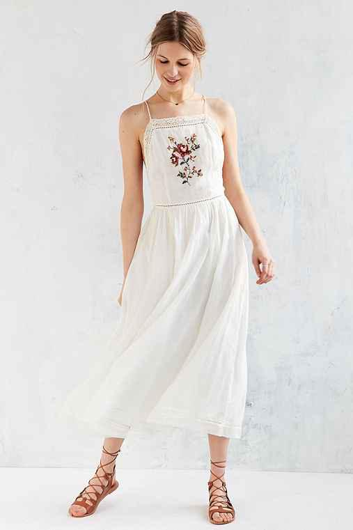 dc407970bbb Kimchi Blue Needlepoint Apron Midi Dress from Urban Outfitters