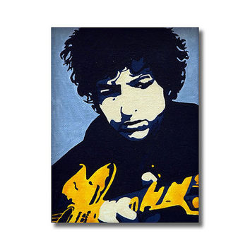 Bob Dylan RETRO- Giclee Wall Art Canvas Poster print
