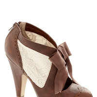 ModCloth French Drama Director Heel in Brown