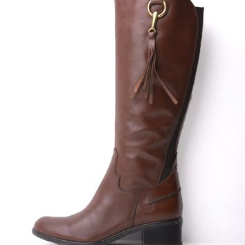 Dune Tipton Snuffle Trim Riding Boot in Brown