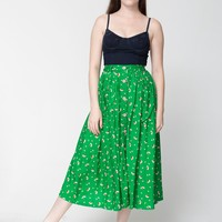 rsacp311s - Rayon Button Up Long Skirt