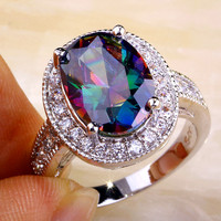 Mysterious Rainbow Stone Ring
