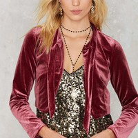 Stop Crop 'n' Roll Velvet Jacket
