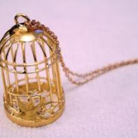 Storenvy - Product - Gold Bird Cage Necklace by That's Pretty