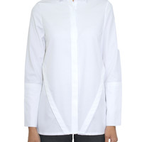 'Riley' back-pleated oxford shirt