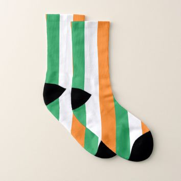 All Over Print Socks with Flag of Ireland