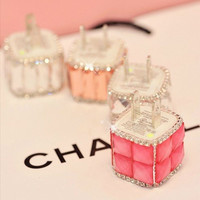 Diamond Bling Quick USB Mobile Phone Charger Adapter