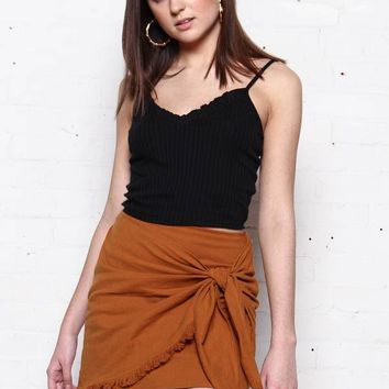 Twist & Shout Skirt - Rust
