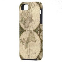 Antique 1660 World Map by Frederick de Wit iPhone 5 Cases from Zazzle.com