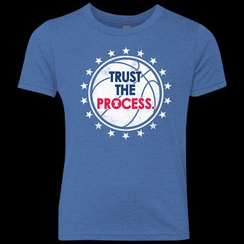 Trust the Process Playoff Edition Youth Triblend Crew