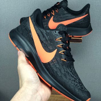 HCXX 19June 1183 Nike Dual Fusion 36 Flyknit Breathable Sports Casual Running Shoes black orange