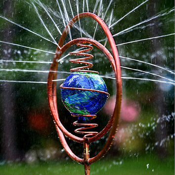 Copper Spiral Sprinkler | oscillating sprinkler, garden decor