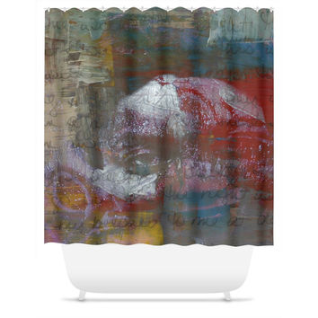 Word is Born Shower Curtain