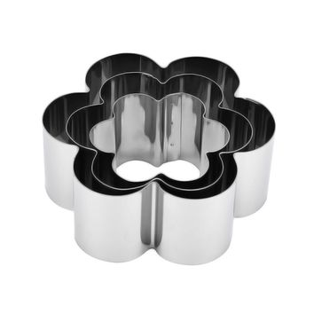 TENSKE Biscuit Cookie Cutter set star flwer heart shapes Mold DIY Baking Pastry Tool Stainless Steel   u71215