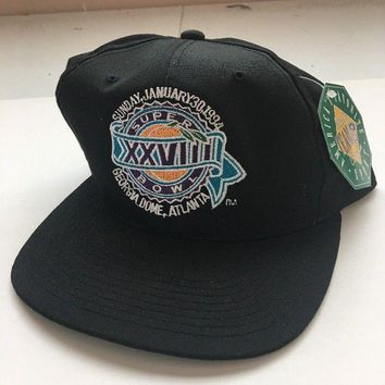 Vintage NFL Super Bowl XXVIII,28,Buffalo Bills, Dallas Cowboys, NWT,Trucker HAT
