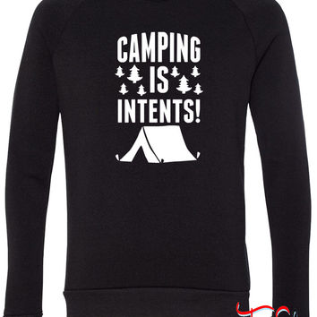 Camping Is In Tents fleece crewneck sweatshirt