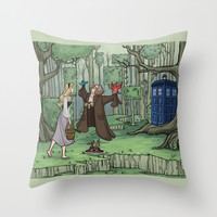 Visions are Seldom all They Seem Throw Pillow by Karen Hallion Illustrations