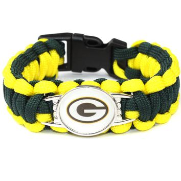 Outdoor survival hand rope nylon hand-woven bracelet broncos Team Outdoor Camping Friendship Bracelet