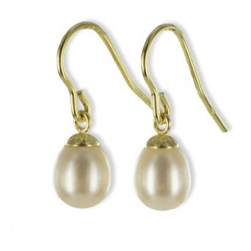 Pearl Trailer Earring (8ct yellow gold/7.5mm/0.65grams)