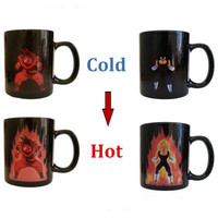 Goku Vegeta Coffee Mug Heat Reactive Color Changing Kaioken Super Saiyan Coffee Mug Dragon Ball Z DBZ New Cup