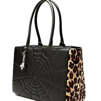 Elvira Lucky Me Tote in Black Matte with Leopard purse