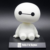 New Pop Big Hero 6 Baymax Cute Cartoon Bobblehead Doll Toy Car Accessories/dashboard Bobblehead for Car/ Interior Decoration, Bobble Head Toy, Kid's Gift