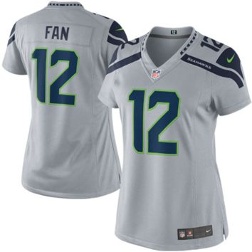 12th Fan Seattle Seahawks Nike Women's Game Jersey – Gray