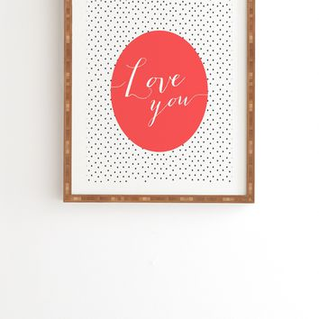 Allyson Johnson Love You Framed Wall Art