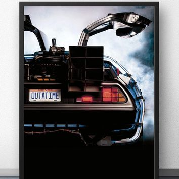 Back to the Future Movie Wall Art Wall Decor Silk Prints Art Poster Paintings For Living Room No Frame