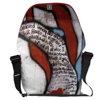 Wordsworth Wall Graffiti Courier Bag