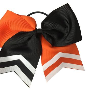 Copy of Cheer Hair Bow- Orange & Black
