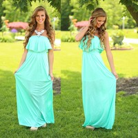 Walks on the Sand Maxi Dress
