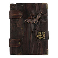 Flying Bat Cast On A Brown Leather Journal / by ALittlePresent