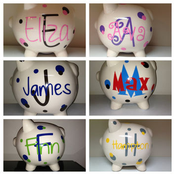 Personalized Piggy Bank - Baby Shower Gift - Expectant Mom New Mom - Gift for Baby Girls & Boys