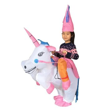 JYZCOS Inflatable Unicorn Costumes for Kids Women Adult Halloween T-Rex Dinosaur Cowboy Duck  Pikachu Suit Purim CosplayKawaii Pokemon go  AT_89_9