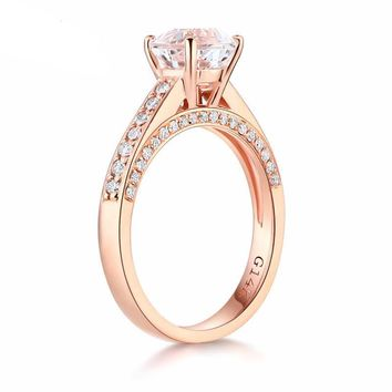 14K Rose Gold Topaz Ring