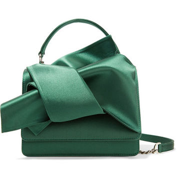 No. 21 - Knot satin shoulder bag
