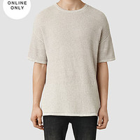 Mens Metz Short Sleeved Crew Sweater (Taupe Marl) | ALLSAINTS.com