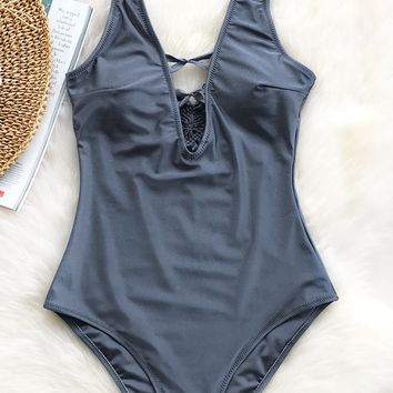 Cupshe Good Grace Solid One-piece Swimsuit