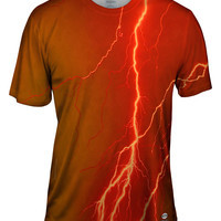 Lightning Storm Orange Brown