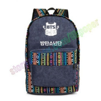 KPOP BTS National style Bag Backpack Satchel School canvas bag