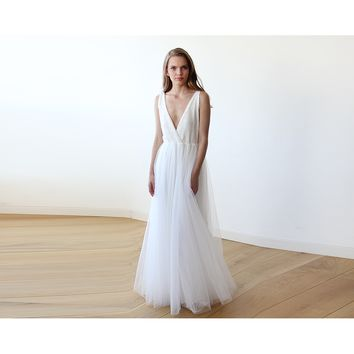 Ivory Sequins and Tulle Bridal Gown 1094