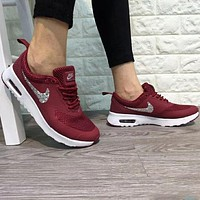 NIKE AIR MAX THEA 2018 Men's and Women's Trendy Fashion Sneakers F-A0-HXYDXPF Red
