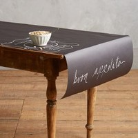 Chalkboard Table Runner by Anthropologie Black One Size Gifts