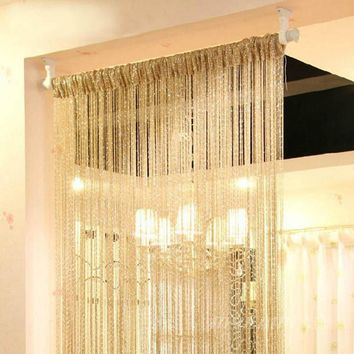 Curtain New Style Silver Silk Curtain