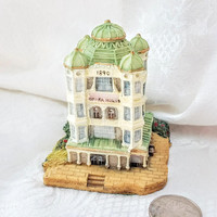 Vintage Liberty Falls Opera House 3 Inch Miniature Historic Building by International Resourcing Services, Resin Train Village