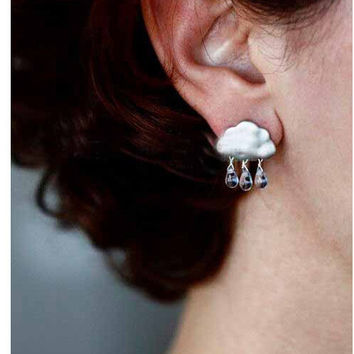 Stylish Korean Water Droplets Earring Accessory [4918495236]